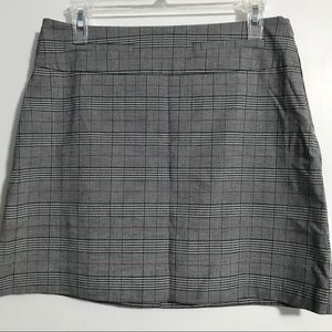 Candies Black & White Plaid A Line Skirt Side Zip Size Small